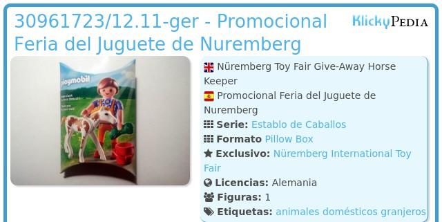 Playmobil 30961723/12.11-ger - Nüremberg Toy Fair Give-Away Horse Keeper