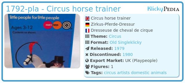 Playmobil 1792-pla - Circus horse trainer