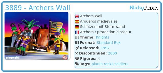 Playmobil 3889 - Archers Wall