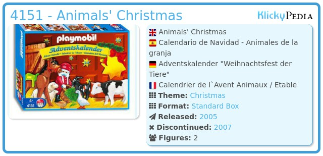 Playmobil 4151 - Animals' Christmas