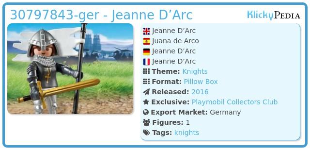Playmobil 30797843-ger - Jeanne D'Arc