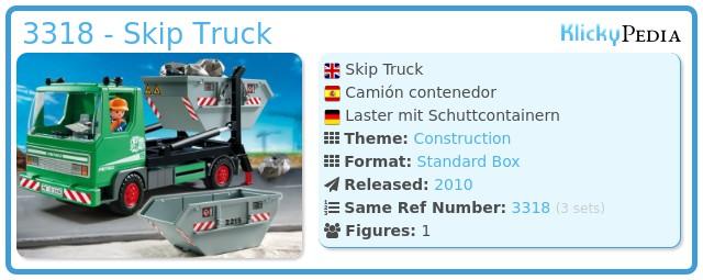 Playmobil 3318 - Skip Truck