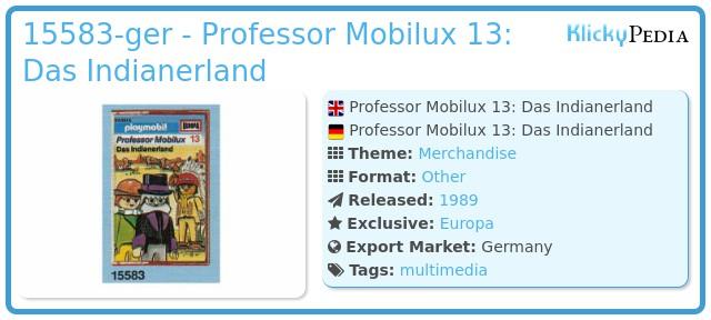Playmobil 15583-ger - Professor Mobilux 13: Das Indianerland