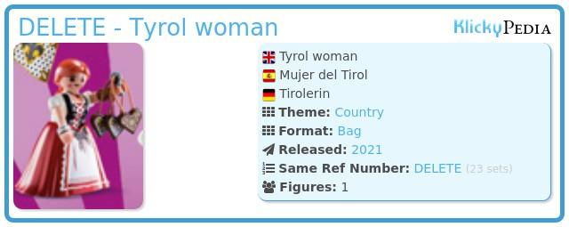 Playmobil 70149-07 - Tyrol woman