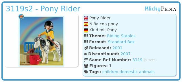 Playmobil 3119s2 - Pony Rider
