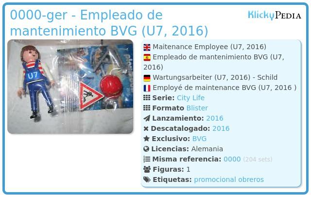 Playmobil 0000-ger - Empleado de mantenimiento BVG (U7, 2016)