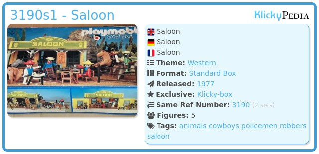 Playmobil 3190s1 - Saloon