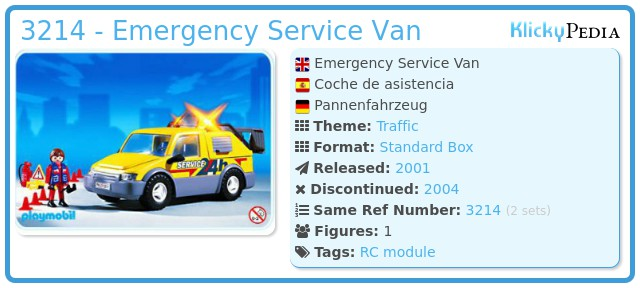 Playmobil 3214 - Emergency Service Van