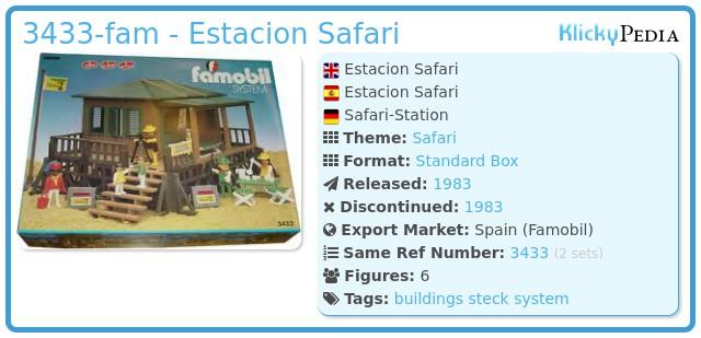 Playmobil 3433-fam - Estacion Safari