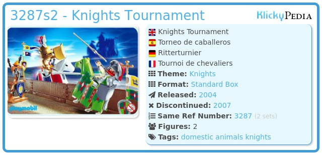 Playmobil 3287s2 - Knights Tournament