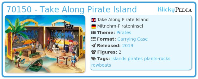 Playmobil 70150 - Takeaway Pirateninsel