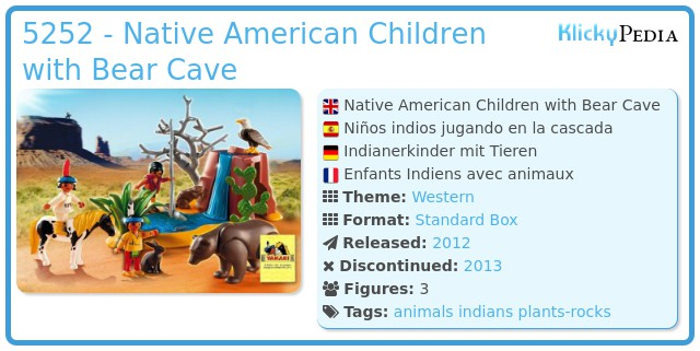 Playmobil 5252 - Native American Children with Bear Cave