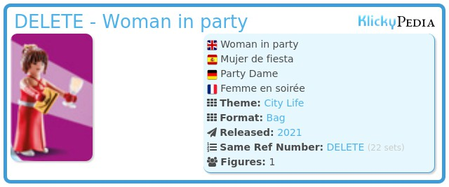 Playmobil 70149-03 - Woman in party