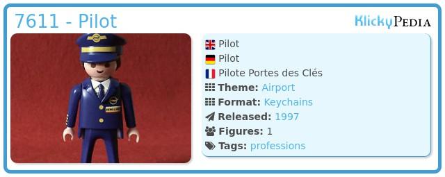 Playmobil 7611 - Pilot