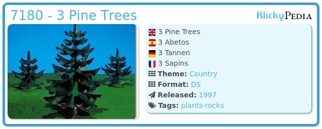 Playmobil 7180 - 3 Pine Trees