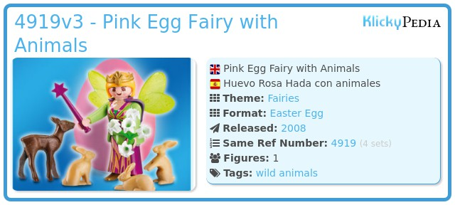 Playmobil 4919v3 - Pink Egg Fairy with Animals