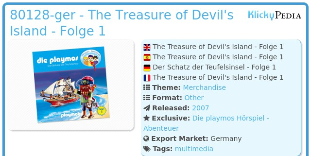 Playmobil 80128-ger - The Treasure of Devil's Island - Folge 1