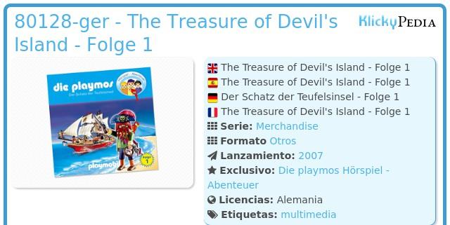 Playmobil 80128-ger - The Treasure of Devil's Island - Folge 1