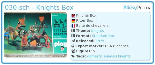 Playmobil 030-sch - Knights Box