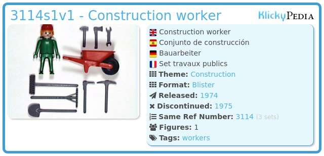 Playmobil 3114s1v1 - Construction worker