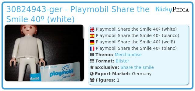 Playmobil 30824943-ger - Playmobil Share the Smile 40º (white)