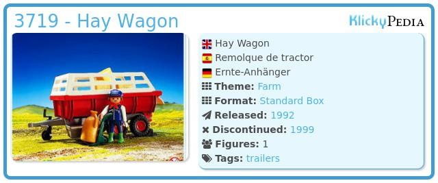 Playmobil 3719 - Hay Wagon