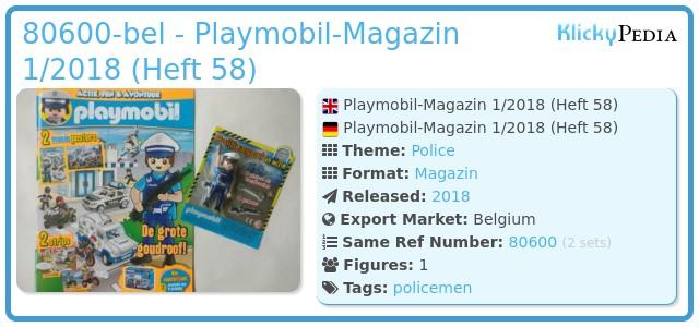 Playmobil 80600-bel - Playmobil-Magazin 1/2018 (Heft 58)