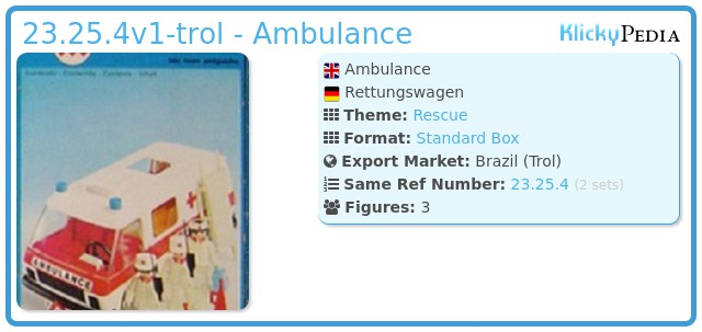 Playmobil 23.25.4v1-trol - Ambulance