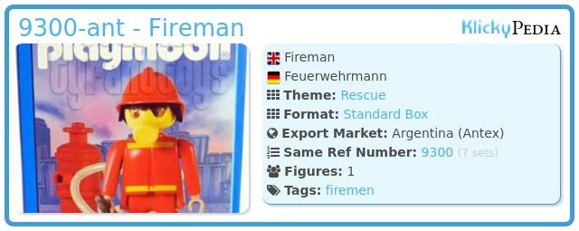 Playmobil 9300-ant - Fireman