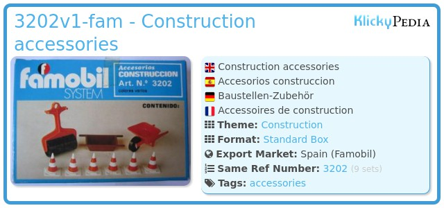 Playmobil 3202v1-fam - Construction accessories