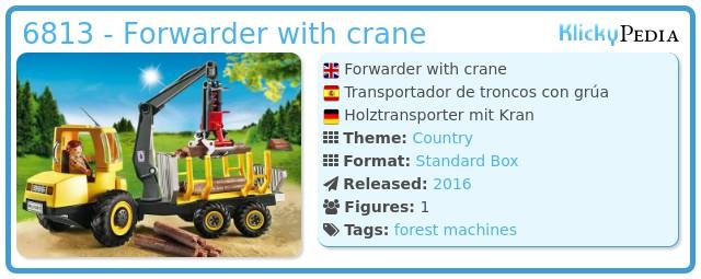 Playmobil 6813 - Forwarder with crane