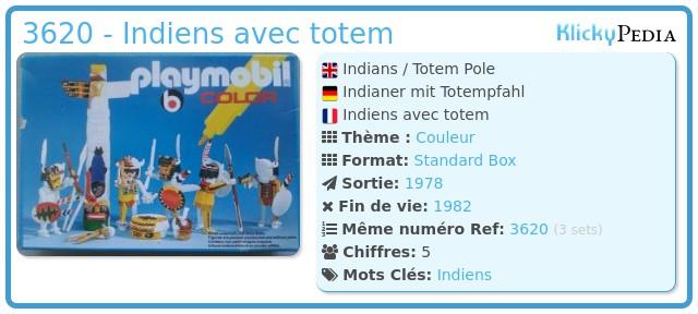 Playmobil 3620 - Indiens avec totem