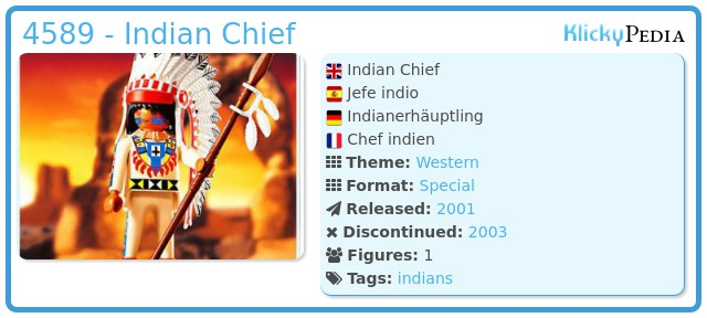 Playmobil 4589 - Indian Chief