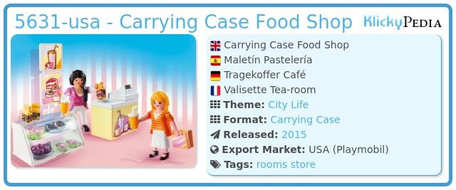 Playmobil 5631-usa - Carrying Case Food Shop