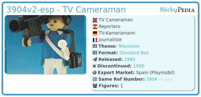 Playmobil 3904v2-esp - TV Cameraman