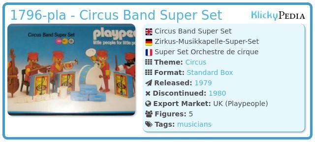 Playmobil 1796-pla - Circus Band Super Set