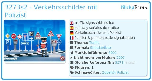 Playmobil 3273s2 - Verkehrsschilder mit Polizist