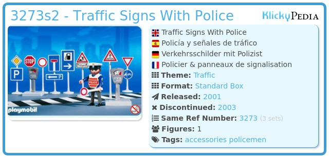 Playmobil 3273s2 - Traffic Signs With Police