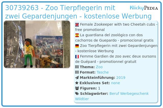 Playmobil 30739263 - Zoo Tierpflegerin mit zwei Gepardenjungen - kostenlose Werbung