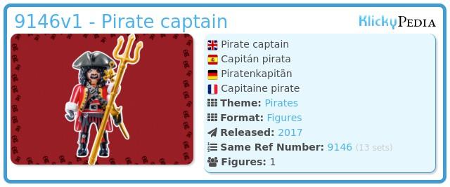 Playmobil 9146v1 - Pirate captain