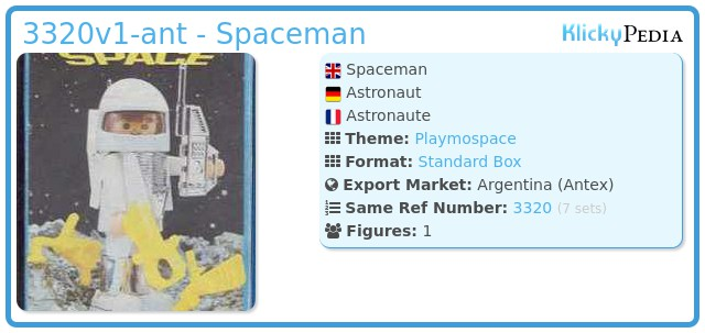 Playmobil 3320v1-ant - Spaceman
