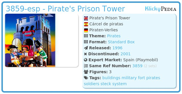 Playmobil 3859-esp - Pirate's Prison Tower