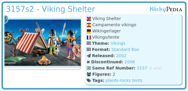 Playmobil 3157s2 - Viking Shelter