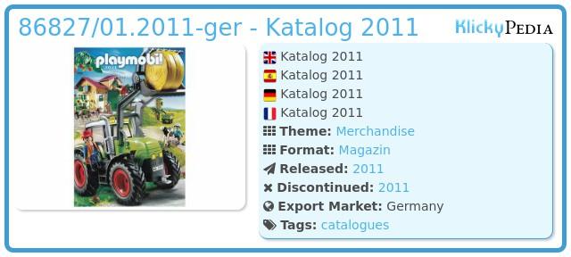 Playmobil 86827/01.2011-ger - Katalog 2011