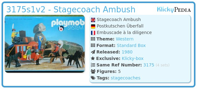 Playmobil 3175s1v2 - Stagecoach Ambush