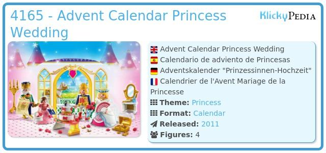 Playmobil 4165 - Advent Calendar Princess Wedding