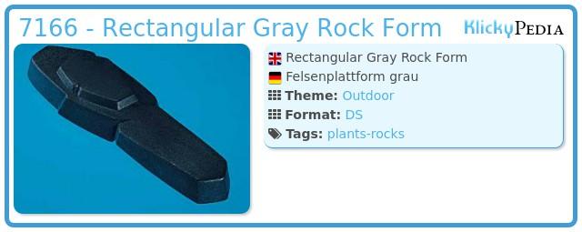 Playmobil 7166 - Rectangular Gray Rock Form