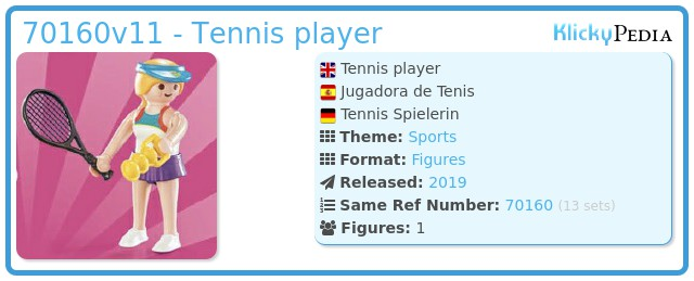 Playmobil 70160- 11 -  Tennis player