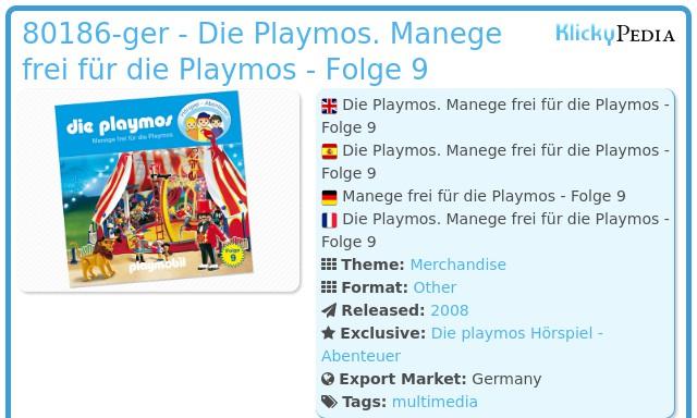 Playmobil 80186-ger - Die Playmos. Manege frei für die Playmos - Folge 9
