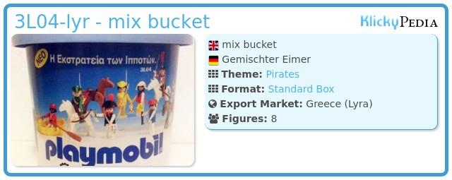 Playmobil 3L04-lyr - mix bucket